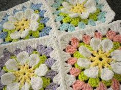 Flower Garden Granny Square Free Crochet Pattern