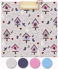 Estampa exclusiva à venda no Panólatras: http://www.panolatras.com.br/compre/tecidos/casinha-de-passarinho