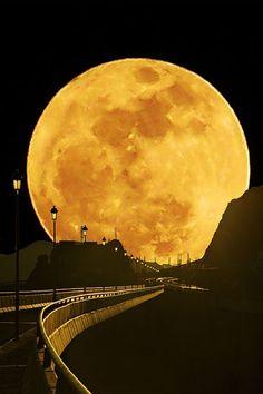 Moon over Santa Fe...WOW
