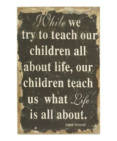 Take a look at this 'Try to Teach' Wall Art by VIP International on #zulily today!