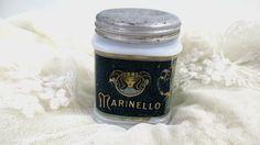 1920s Marinello Pomade Milk Glass Jar Art by UrbanRenewalDesigns, $32.00