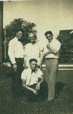 Virgil Baker, Mother Neva Akers Baker, Jake Baker (bottom), Ed Baker Sept 1 1929