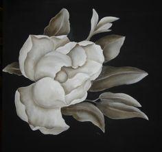 Magnolia monocromática Oleo Pilar Sala
