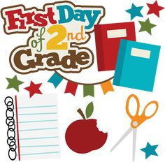 First Day Of 2nd Grade SVG school svg collection school svg files for scrapbooking