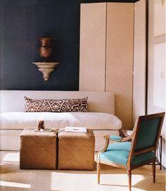 Arcadian Home- Teal Rooms to Love Dark Blue Bedroom Walls, Teal Rooms, Dark Blue Walls, Accent Walls In Living Room, Bedroom Wall Colors, Teal Walls, Living Room Paint, Living Room Colors, New Living Room