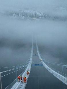 'Puente del cielo'' en Noruega