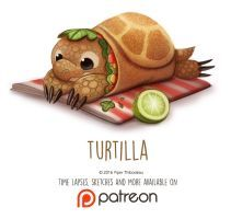 Daily Paint 1466. Turtilla by Cryptid-Creations