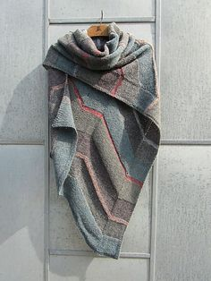 Ravelry: Tokyo Shawl pattern by Marianne Isager GREAT colors and design Knitting Designs, Knitting Projects, Knitting Patterns, Knit Cowl, Knitted Shawls, Knit Scarves, Knit Or Crochet, Crochet Shawl, Shawl Patterns