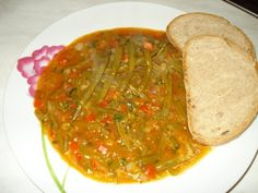 Fasole verde cu usturoi(de post) - imagine 1 mare Detox Recipes, Palak Paneer, Salsa, Vegetarian Recipes, Food And Drink, Pastel, Vegan, Ethnic Recipes, Drinks