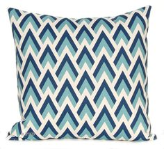Decorative Throw Pillow Covers Navy and Aqua by FestiveHomeDecor