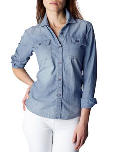CASUAL DENIM SHRT WITH SIGNATURE FLAP POCKET - True Religion
