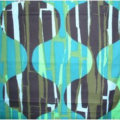 This sample is in green, blue and black. 60s Patterns, Patterns In Nature, Textile Patterns, Geometric Patterns, Textile Prints, Textile Design, Fabric Design, Graphic Design Pattern, Vintage Textiles