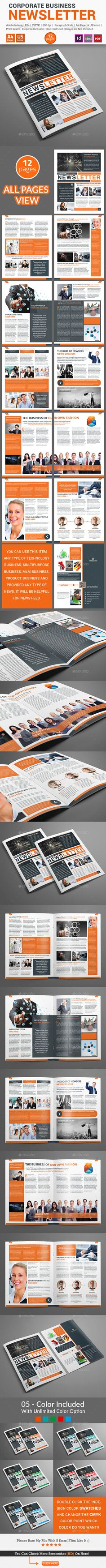Newsletter For Corporate Business (12 pages) Template PSD. Download here: http://graphicriver.net/item/newsletter-for-corporate-business-12-pages/15731746?ref=ksioks