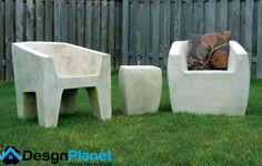 concrete furniture chairs design