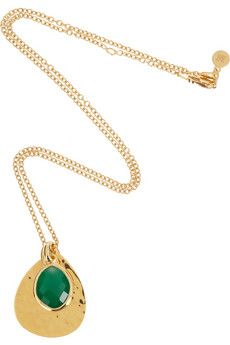 MONICA VINADER  Ava 18-karat gold-vermeil onyx necklace  $280