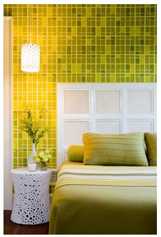 tile green bedroom