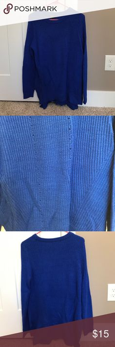 Sweater Beautiful blue sweater, longer in the back, super soft material Mossimo Supply Co. Sweaters Crew & Scoop Necks