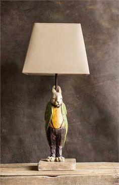 Resin Hare Lamp w/ Shade