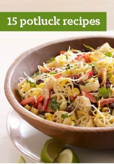 15 Potluck Recipes – Don't be surprised if you find yourself invited to more potluck parties when you start drawing on the recipes from this collection!