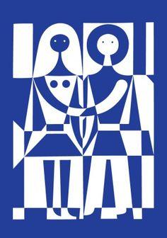 Alexander Girard print, 1971.