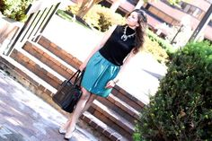 FashionEdible: Turquoise Necklace & Printed Skirt