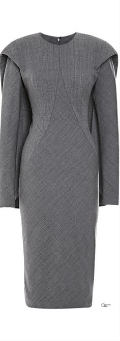 Zac Posen ● Pre-Fall 2014, Wool Cape Back Dress