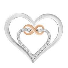 Precious Metal Without Stones Fine Pins & Brooches Discreet Sterling Silver Open Heart Pin Brooch Signed 3.5 Grams