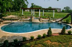 Inground Pools Designed for Backyard Living - Residential Gallery .for my parents!