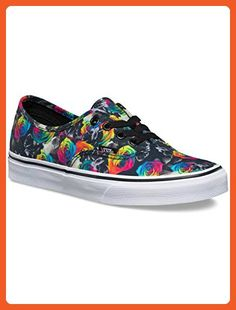 3bbd583e2b3929 Vans Authentic Rainbow Womens Trainers Black Floral - 7 UK (8 US MEN