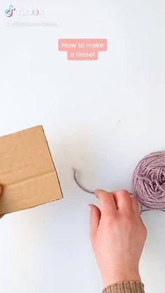 A quick and easy tutorial on how to make a tassel using yarn and a piece of cardboard.