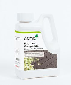 Osmo Polymer Composite Cleaner is an effective cleaning concentrate formulated for plastic composites such as plastic (composite) chairs and tables and other outdoor furniture.  Also recommended for wood-plastic composite decking.  Composite Cleaner is a slightly alkaline cleaner for removing organic and inorganic contaminants such as mould and food stains etc in exterior situations. It should not be used inside. Exterior Stain, Best Cleaner, Natural Wood Finish, Composite Decking, Natural Cleaners, Wood Furniture, Outdoor Furniture, Wood Surface, Naturally Beautiful