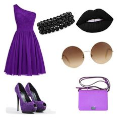 """""""ⓟⓤⓡⓟⓛⓔ ⓗⓔⓐⓡⓣ"""" by demigoddess-shadowhunter ❤ liked on Polyvore featuring Giuseppe Zanotti, Dolce&Gabbana, Lime Crime, Bling Jewelry and Victoria Beckham"""
