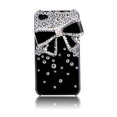 Black bow and rhinestones alloy diy bling phone deco kit K13 | chriszcoolstuff - Craft Supplies on ArtFire