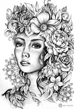 coloring pages to print Illustration - June 2016 Illustration - June 2016 Fairy Coloring Pages, Printable Adult Coloring Pages, Coloring Pages To Print, Free Coloring Pages, Coloring Books, Kreative Portraits, Devian Art, Illustration, Colorful Drawings