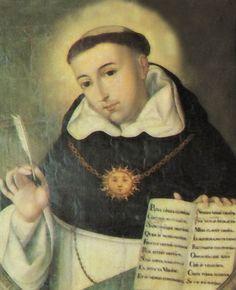 SANTO TOMAS DE AQUINO. Santo patrón de las universidades y centros de estudio católicos.
