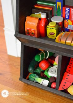 Wooden Play Food Playroom Storage  #TargetToys