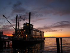 The Tahoe Queen paddle wheeler is based on the South Shore of Lake Tahoe. #usatodaybestlake
