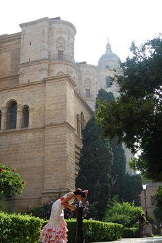 Feria de Malaga Patio, Louvre, Building, Places, Travel, Orange Trees, Voyage, Yard, Terrace