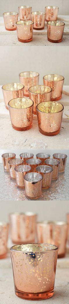 Candles and Candle Holders 20936: Rose Gold Mercury Glass Votive Candle Holders Beautiful Wedding Home Decor 72Pc. -> BUY IT NOW ONLY: $89 on eBay!