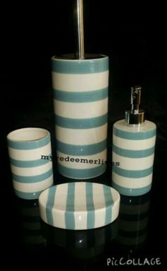Aqua bathroom toilet #accessory set toilet brush soap dish #dispenser #tumbler ne,  View more on the LINK: http://www.zeppy.io/product/gb/2/311544419765/