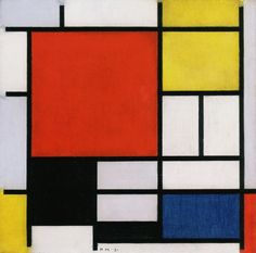 Piet Mondrian - Composition with Large Red Plane, Yellow, Black, Gray, and Blue