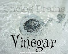 How to unclog and de-stink drains without chemicals. #cleaning