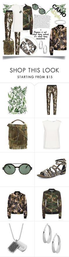 """""""Camo Style"""" by jeneric2015 ❤ liked on Polyvore featuring BCBGMAXAZRIA, Yves Saint Laurent, Finders Keepers, Italia Independent, Topshop, WearAll, Balmain, Stella Valle, Robert Lee Morris and Michael Kors"""