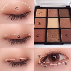 "History of eye makeup ""Eye care"", in other words, ""eye make-up"" happens to be a Korean Makeup Tips, Asian Eye Makeup, Korean Makeup Tutorials, Eye Makeup Steps, Asian Eyeshadow, Natural Eye Makeup Step By Step, Eyebrow Makeup, No Make Up Make Up Look, Eye Make Up"