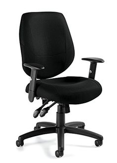Black Offices To Go Multifunction Chair with Arms *** Want to know more, click on the image.Note:It is affiliate link to Amazon.