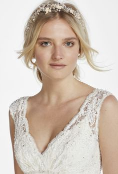 Headpiece by David's Bridal