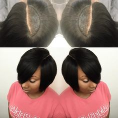 Nice invisible part quick weave via @hairbylatise  Read the article here - http://www.blackhairinformation.com/hairstyle-gallery/nice-invisible-part-quick-weave-via-hairbylatise/