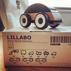 IKEA Lillabo Toy Cars - modular and made of wood and plastic. Designed by Henrik Johansson.