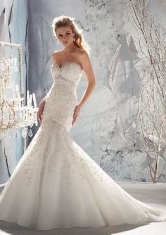 MORI LEE Bridal, Fall 2013 Collection | Style 1969 - Intricately Beaded Embroidery on Net