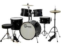 Complete 5-Piece Black Junior Drum Set with Cymbals Stands Sticks Hardware & Stool Gammon Percussion http://www.amazon.com/dp/B0033290CQ/ref=cm_sw_r_pi_dp_J65Fub0GSG4C2